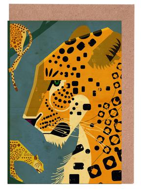 Leopard Greeting Card Set