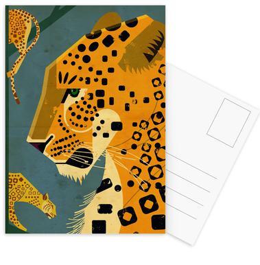 Leopard Ansichtkaartenset