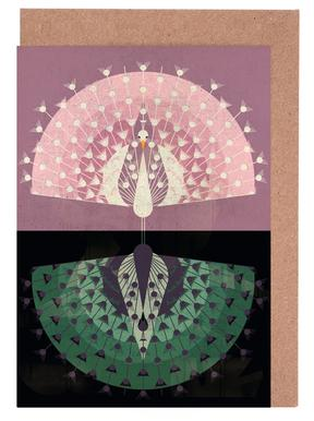 Peacock Greeting Card Set
