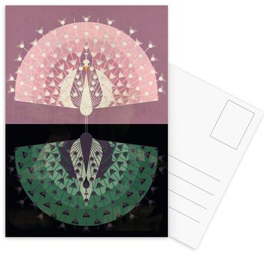 Peacock Set de cartes postales