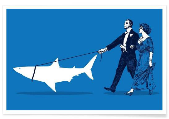 Walking The Shark Affiche