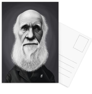 Charles Darwin ansichtkaartenset