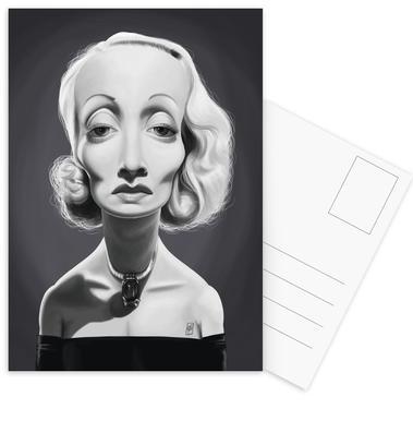 Marlene Dietrich Set de cartes postales