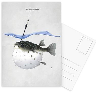 Take it outside (titled) Postcard Set