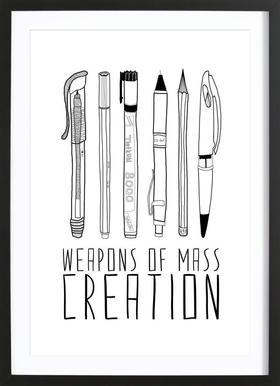 Weapons of Mass Creation Poster in houten lijst