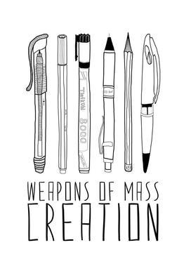 Weapons of Mass Creation Acrylic Glass Print