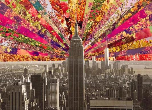 Blooming NY canvas doek