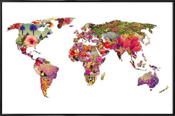 Buy framed world map posters online juniqe uk its your world bianca green poster in standard frame gumiabroncs Images