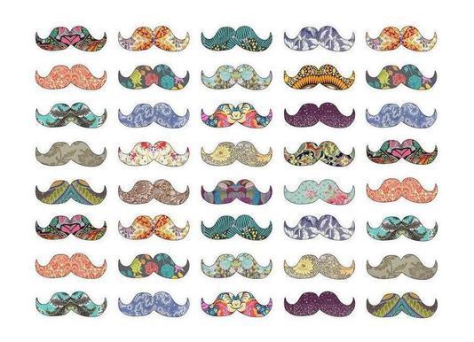Mustache Mania canvas doek