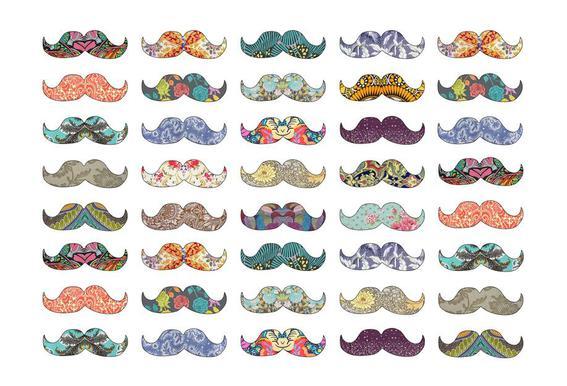 Mustache Mania acrylglas print