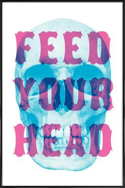 FEED YOUR HEAD Poster in kunststof lijst
