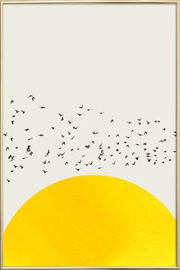 A Thousand Birds   Kubistika   Poster In Aluminium Frame ...