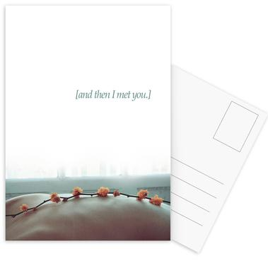And Then I Met You Postcard Set