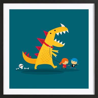 Dino Walk Framed Print