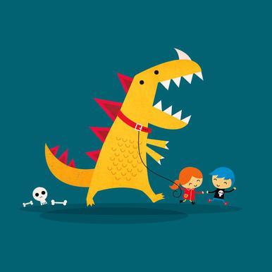Dino Walk Impression sur alu-Dibond