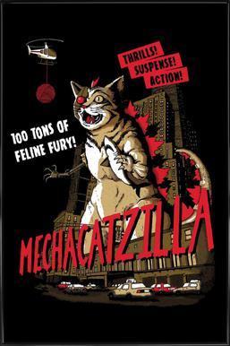 Mecha Catzilla Framed Poster