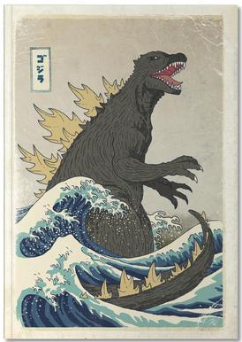 The Great Godzilla off Kanagawa Carnet de note