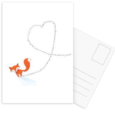 Foxy Love Postcard Set