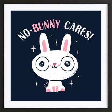 No-Bunny Cares Framed Print