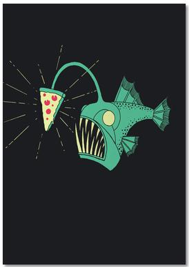 Angling For Pizza Notebook