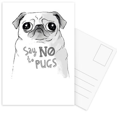 Say No to Pugs ansichtkaartenset