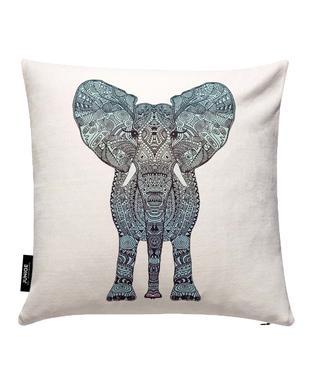 Mint Elephant Cushion Cover