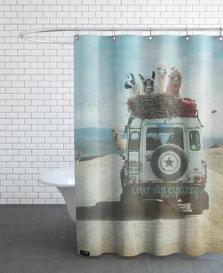 Never Stop Exploring II   Monika Strigel   Shower Curtain