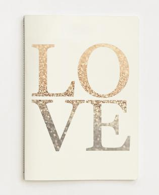 Gold LOVE -Notizheft
