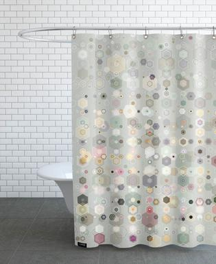 Abstract Geometric Shower Curtains