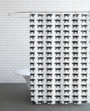 dog pattern 1 douchegordijn