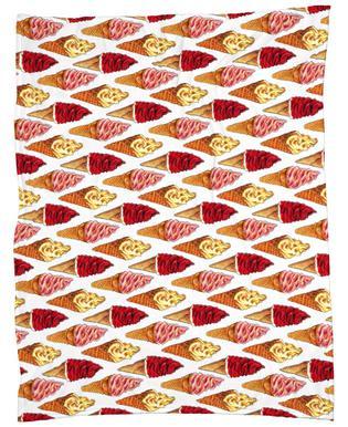 Soft Serve Pattern Fleece Blanket