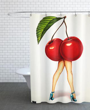 Fruit Stand - Cherry Shower Curtain
