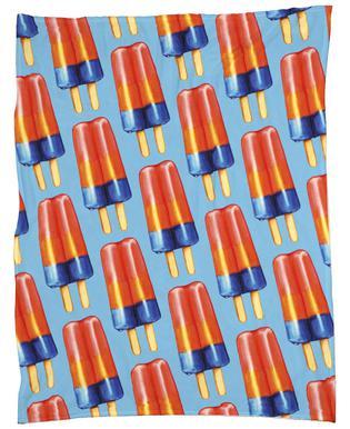 Rainbow Double Popsicle Fleece Blanket