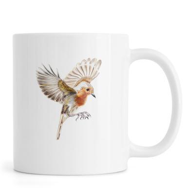 Rotkehlchen im Flug Mug