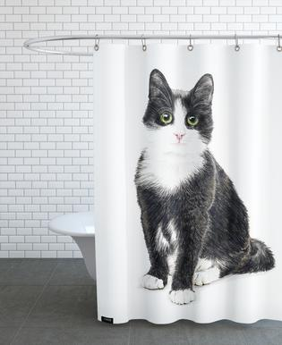 Katze Murmelauge douchegordijn