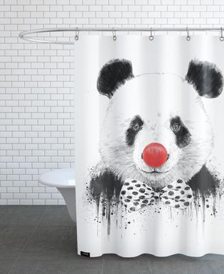 Clown Panda Rideau de douche