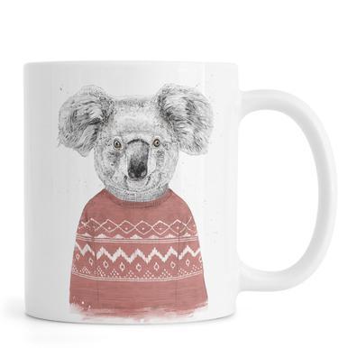Winter Koala Red Mug