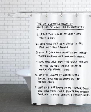 Home office rideau de douche