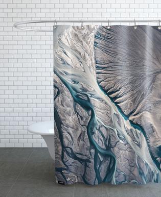 Raw 8 Núpsvötn Iceland Shower Curtain