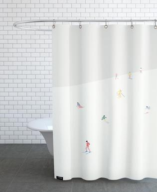 Skiing Snowboarding Shower Curtains
