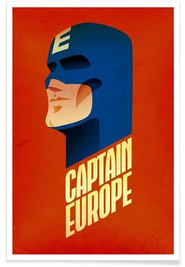 Captain Europe Poster