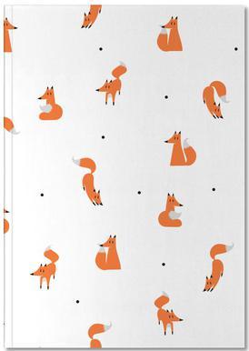 Winter Foxes Carnet de note