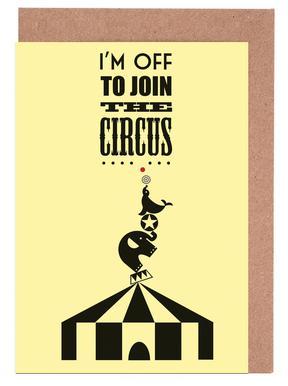 Circus Set de cartes de vœux