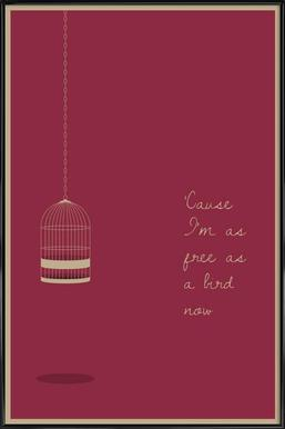 Free as a Bird Poster im Kunststoffrahmen