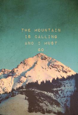 Mountain Is Calling acrylglas print