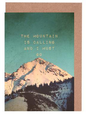 Mountain Is Calling Gratulationskort i satt