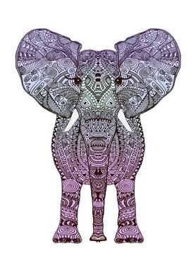 Purple Elephant -Leinwandbild