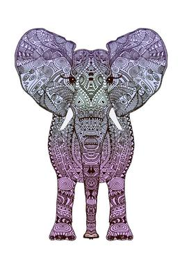Purple Elephant Acrylglasbild