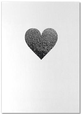 Black Heart Als Poster Door Monika Strigel Juniqe