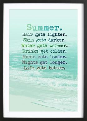 Summer Poster im Holzrahmen